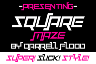 Print on Demand: Squaremaze Display Font By Dadiomouse