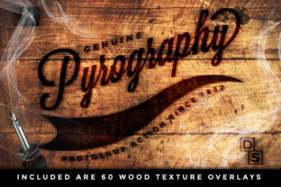 Print on Demand: The Pyrography Photoshop Action Graphic Actions & Presets By denestudios