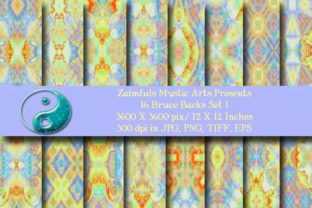 Print on Demand: 16 Bruce Backs Graphic Backgrounds By Zaimfuls Mystic Arts