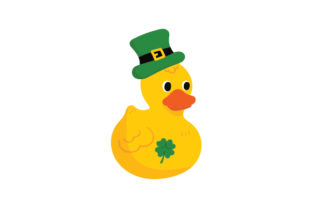 Sain't Patrick's Day Rubber Duck Saint Patrick's Day Craft Cut File By Creative Fabrica Crafts