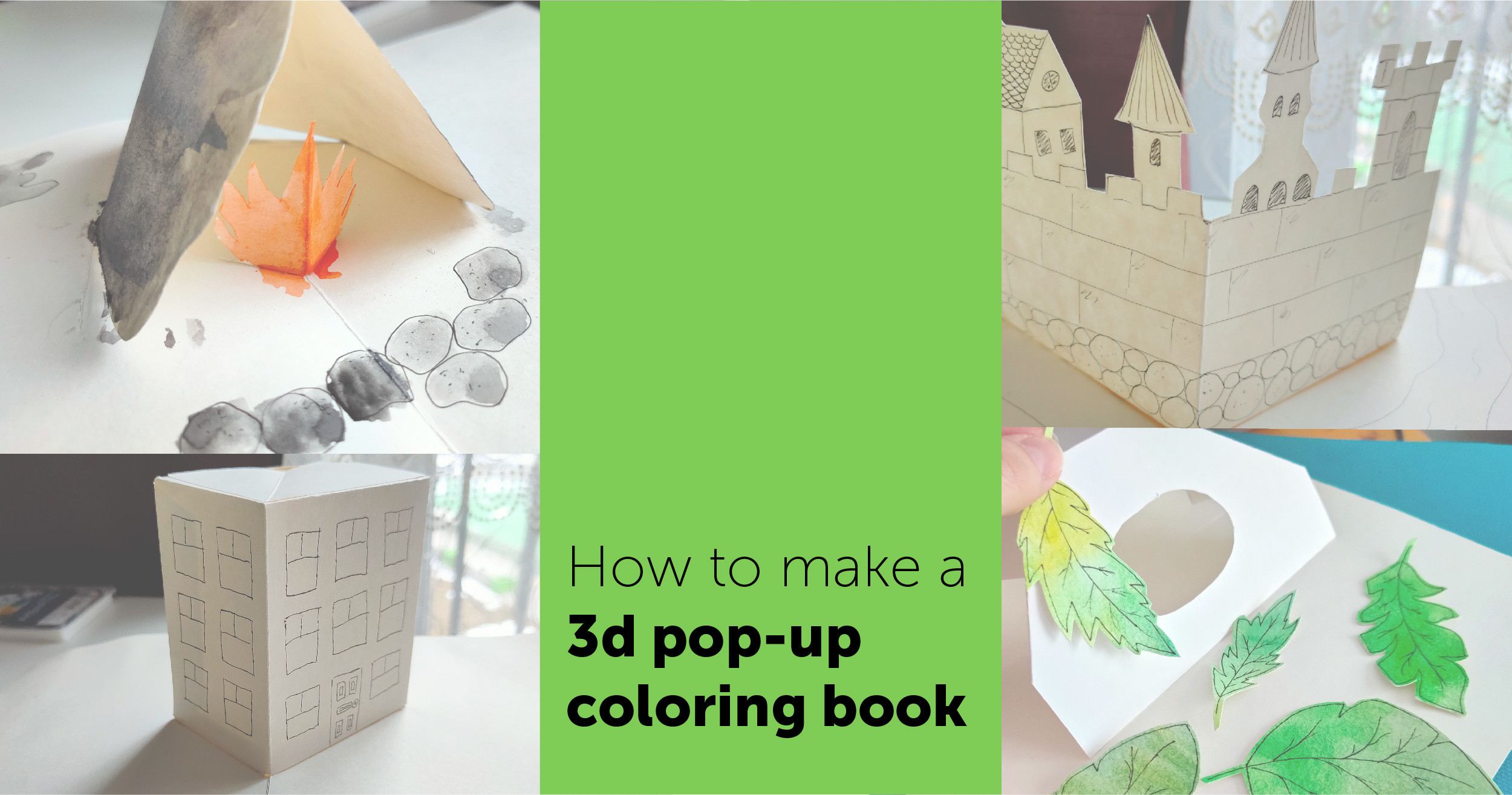 3D Pop-Up Coloring Book: Tips & Video