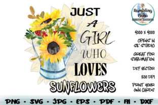 Print on Demand: A Girl Who Loves Sunflowers Sublimation Graphic Print Templates By RamblingBoho