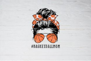 Print on Demand: Basketball Mom Sublimation Messy Bun Gráfico Crafts Por Amitta_Newmody