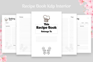 Blank Recipe Book 100 Pages KDP Interior Graphic KDP Interiors By Effectmaster
