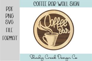 Coffee Bar Sign for Laser Graphic 3D SVG By Shady Creek Design Company