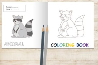 Coloring Book Animal Dor Kids - Racoon Graphic Coloring Pages & Books Kids By 57creative