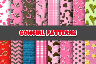 Print on Demand: Cowgirl Digital Papers Patterns Graphic Patterns By Grafixeo