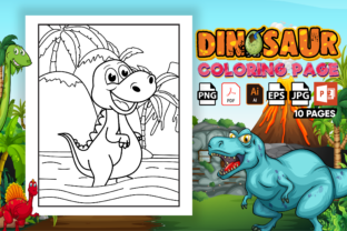 Print on Demand: Dinosaur Coloring Pages - KDP Interior Graphic Coloring Pages & Books Kids By Kristy Coloring 1