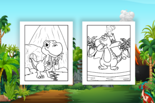 Print on Demand: Dinosaur Coloring Pages - KDP Interior Graphic Coloring Pages & Books Kids By Kristy Coloring 2
