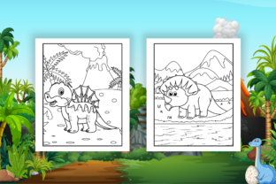 Print on Demand: Dinosaur Coloring Pages - KDP Interior Graphic Coloring Pages & Books Kids By Kristy Coloring 3