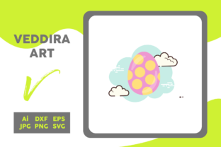 Easter Icon Egg Big Circle Cloud White Graphic Icons By veddiraart