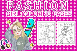 Fashion Girl Coloring Book Graphic Coloring Pages & Books Kids By Creative Color Designe