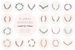 Print on Demand: Hand Drawn Floral Doodles Vol.5. Wreaths Graphic Illustrations By Olya.Creative
