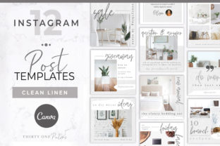 Instagram Posts for Canva Graphic Graphic Templates By Thirty One Palms Studio