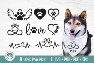 Love Dog Paw Bundle Graphic Crafts By Cuputo Creative
