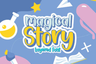 Print on Demand: Magical Story Display Font By Gilar Studio
