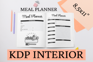 Print on Demand: Meal Planner | KDP Interior Graphic KDP Interiors By KDP Mastermind