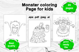 Print on Demand: Monster Coloring Book Kids Graphic Coloring Pages & Books Kids By Day Dreamer