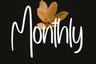 Print on Demand: Monthly Script & Handwritten Font By Creativewhitee