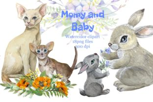 Print on Demand: Mother and Baby Animals,mothers Day Graphic Illustrations By Marine Universe