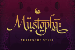 Print on Demand: Mustopha Display Font By Arterfak Project