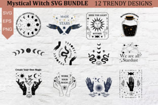Mystical Witchy SVG Bundle Graphic Illustrations By EssentiallyNomadic