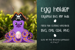 Print on Demand: Octopus - Chocolate Egg Holder Template Graphic 3D SVG By Olga Belova