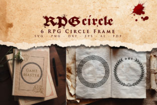 Print on Demand: RPG Circle Frame SVG Graphic Crafts By Novart