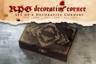 Print on Demand: RPG -  Decorative Corners, Ornament Svg Graphic Crafts By Novart