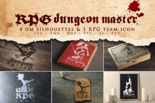 Print on Demand: RPG Dungeon Master Bundle SVG Graphic Crafts By Novart