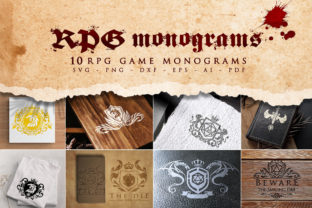 Print on Demand: RPG Monograms Bundle SVG, RPG Icons Graphic Crafts By Novart