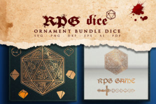 Print on Demand: RPG Ornament Bundle Polyhedral Dice SVG Graphic Crafts By Novart
