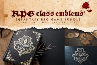 Print on Demand: Role Playing Game Class Emblems Bundle Grafik Plotterdateien von Novart