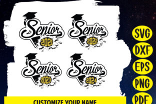 Senior 2021, Class of 2021 Graphic Print Templates By Jennadesignsstore