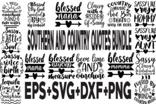 Print on Demand: Southern and Country SVG Bundle 20 Desig Graphic Crafts By svgbundle