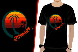 Summer T-shirt Design Graphic Print Templates By Anamul Hoq