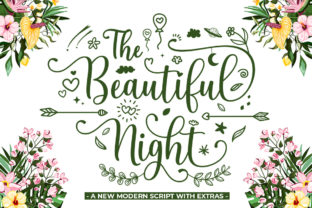 Print on Demand: The Beautiful Night Script & Handwritten Font By Attract Studio