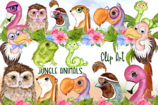 Print on Demand: Tropical Birds Cute Safari Animals Grafik Illustrationen von vivastarkids