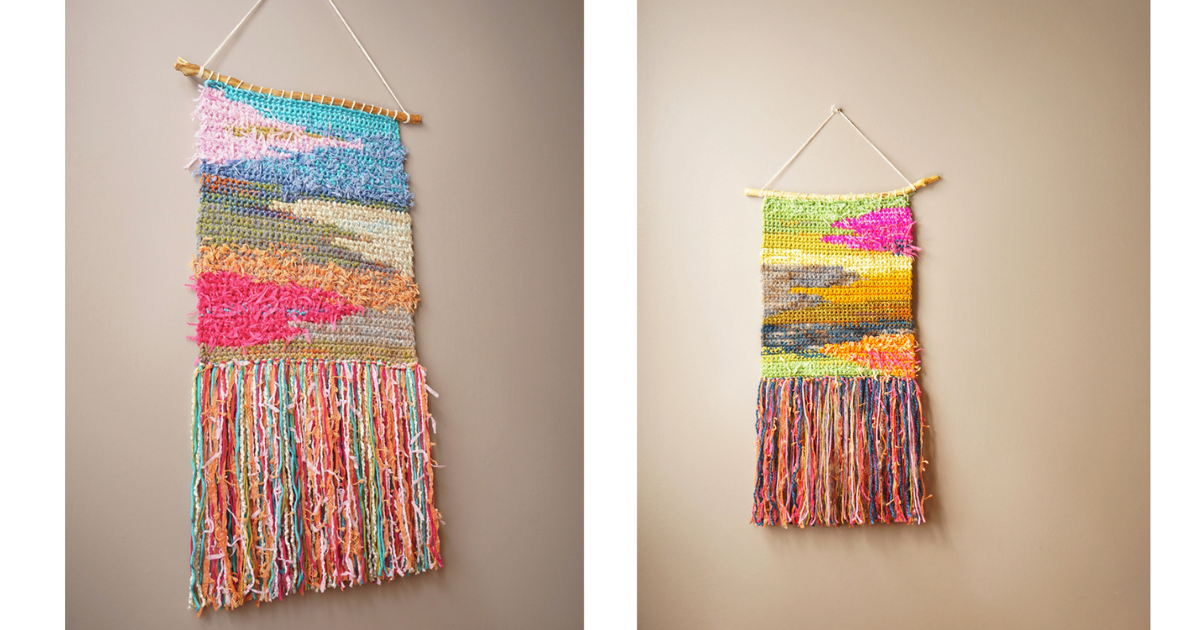 Crochet an Easy Wall Hanging from Leftover Yarn
