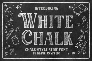 Print on Demand: White Chalk Serif Font By Blankids Studio