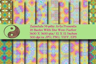 Print on Demand: 18 with the WOW Factor Backs Graphic Backgrounds By Zaimfuls Mystic Arts