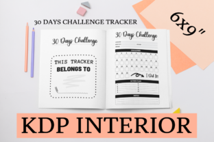 Print on Demand: 30 Days Challenge Tracker | KDP Interior Graphic KDP Interiors By KDP Mastermind