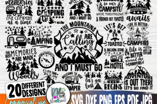 Print on Demand: Camping SVG Bundle, Adventure Svg, Png Graphic Crafts By nibaartstudio