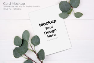 Card Mockup, Poster, Greeting Card Graphic Product Mockups By NTStudio