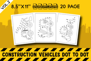 Construction Vehicles Dot to Dot Vol. 2 Graphic KDP Interiors By Vibgyor