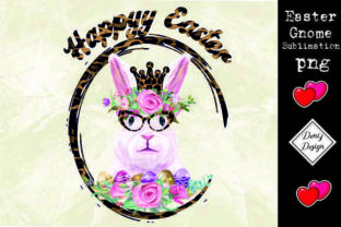 Print on Demand: Easter Watercolor Bunny Png Grafik Druck-Templates von DenizDesign