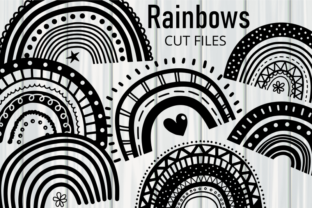 Print on Demand: Hand Drawn Doodle Rainbow Cut Files Graphic Crafts By Prawny