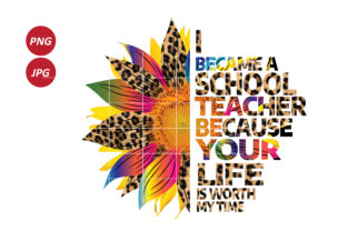 I Became a School Teacher Graphic Illustrations By Army Custom