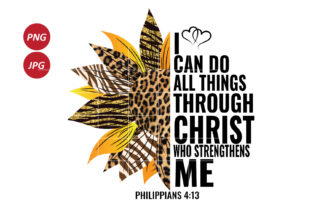 I Can Do All Things Through Christ Graphic Illustrations By Army Custom 1