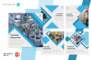 Instagram Feed - Technic Industrial Graphic Graphic Templates By 57creative